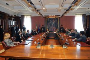 Tavolo con i Professori e Altri Ufficiali del Comando Generale della Guardia di Finanza
