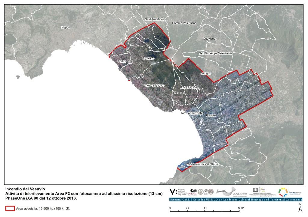 L'incendio del Vesuvio e il repertorio cartografico Benecon di cartografia propria con sensori aviotrasportati PhaseOne iXA e Daedalus AA 3500