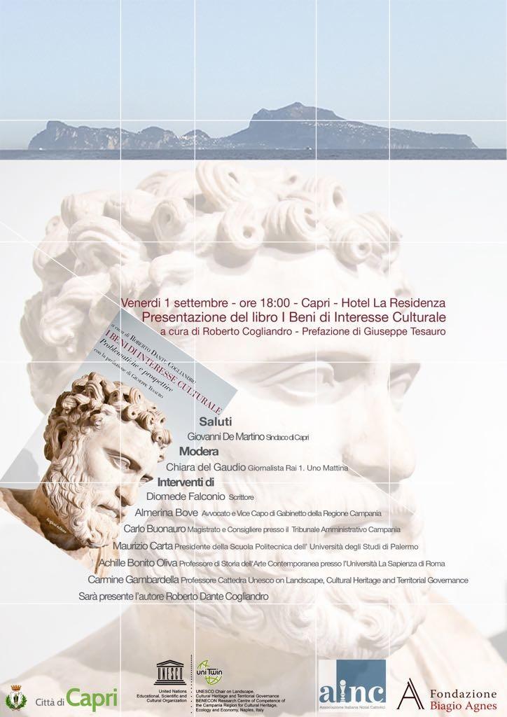 Presentazione del libro I BENI DI INTERESSE CULTURALE