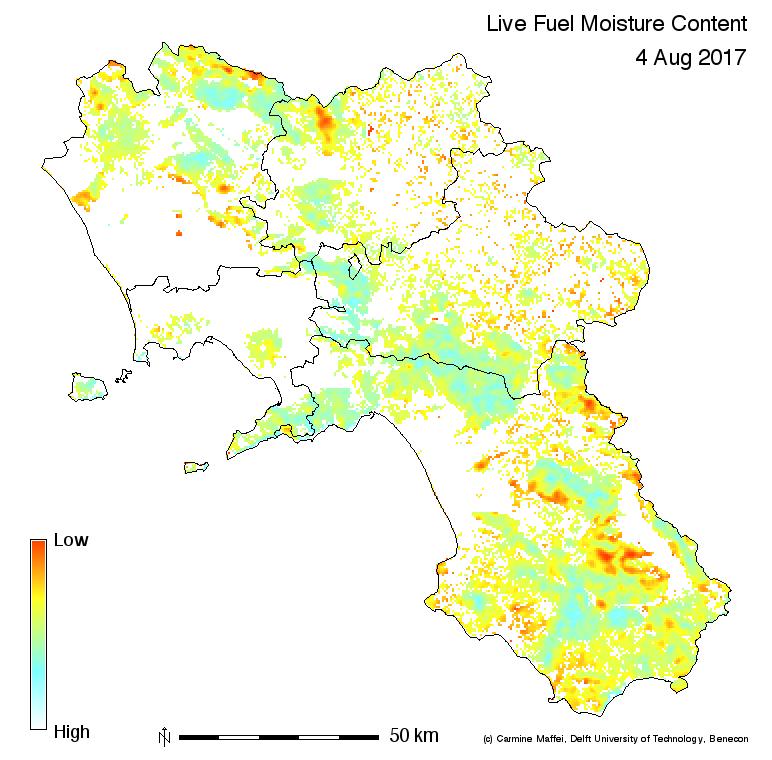 Aggiornata la carta della pericolosità d'incendio in Campania