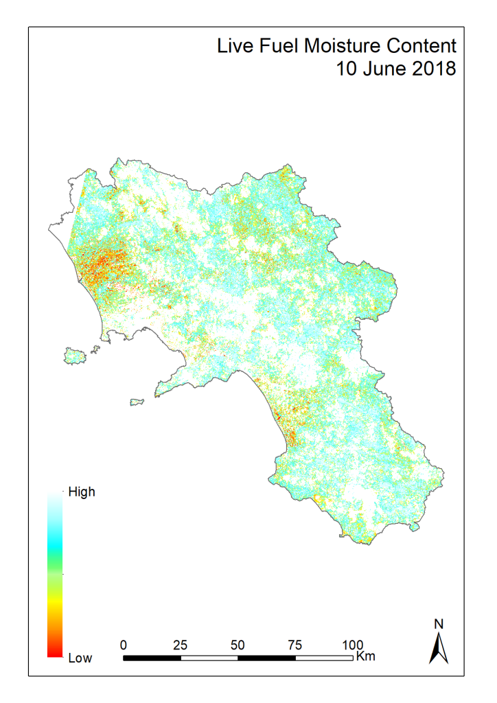 La nuova mappa di pericolosità d'incendio prodotta dal BENECON Cattedra UNESCO