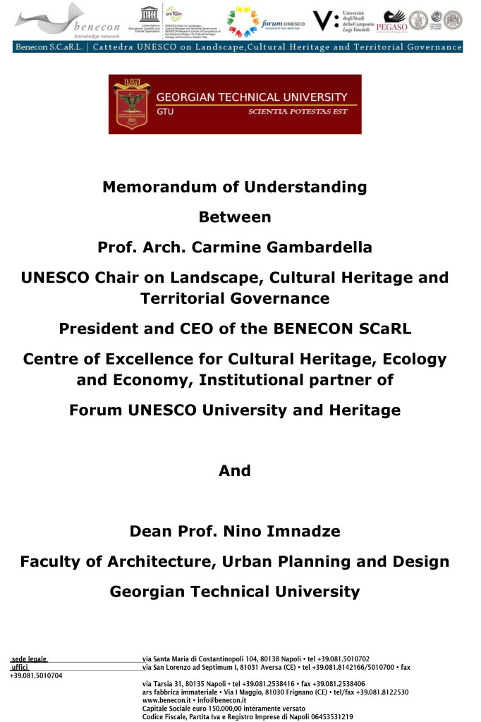 Scientific cooperation BENECON – Faculty of Architecture, Urban Planning and Design, Georgian Technical University