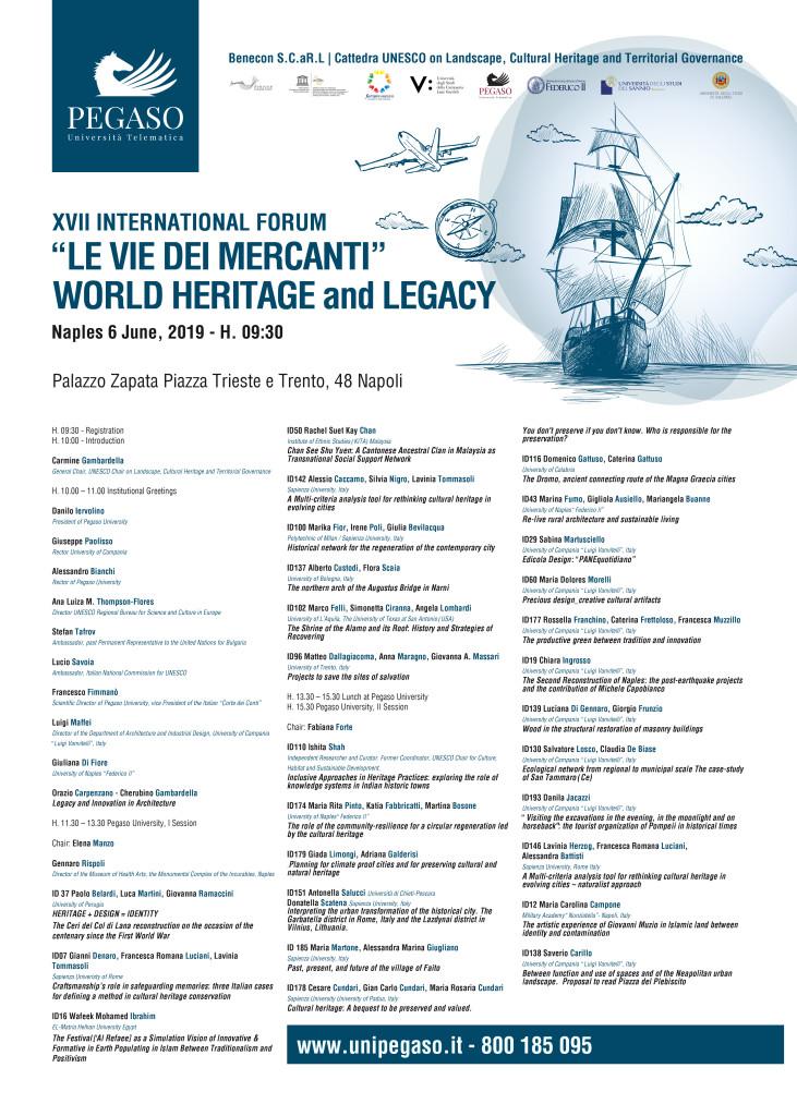 """Inaugurazione XVII International Forum """"Le Vie dei Mercanti"""" WORLD HERITAGE and LEGACY"""